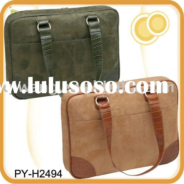 Men's canvas laptop briefcase bag for 17 inch laptop