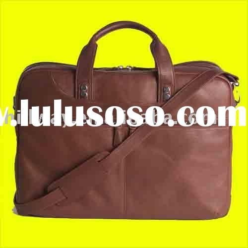 NEW GENUINE COWHIDE LEATHER BUSINESS LAPTOP NOTEBOOK COMPUTER BRIEFCASE BAG