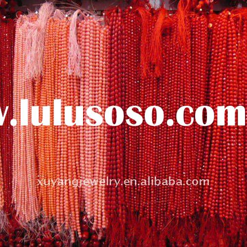 Natural Red Coral Beads