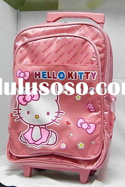 Power Seller +hello kitty wheel bag/wheel school bag/trolley A968 wholesale