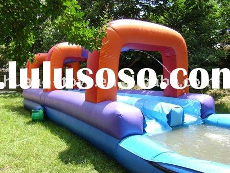 inflatable water slide,double lane water slide,mage slip and slide with pool