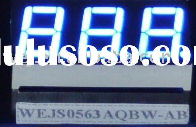 "0.52"" 7 segment LED digit display in blue color and with 3 digits"
