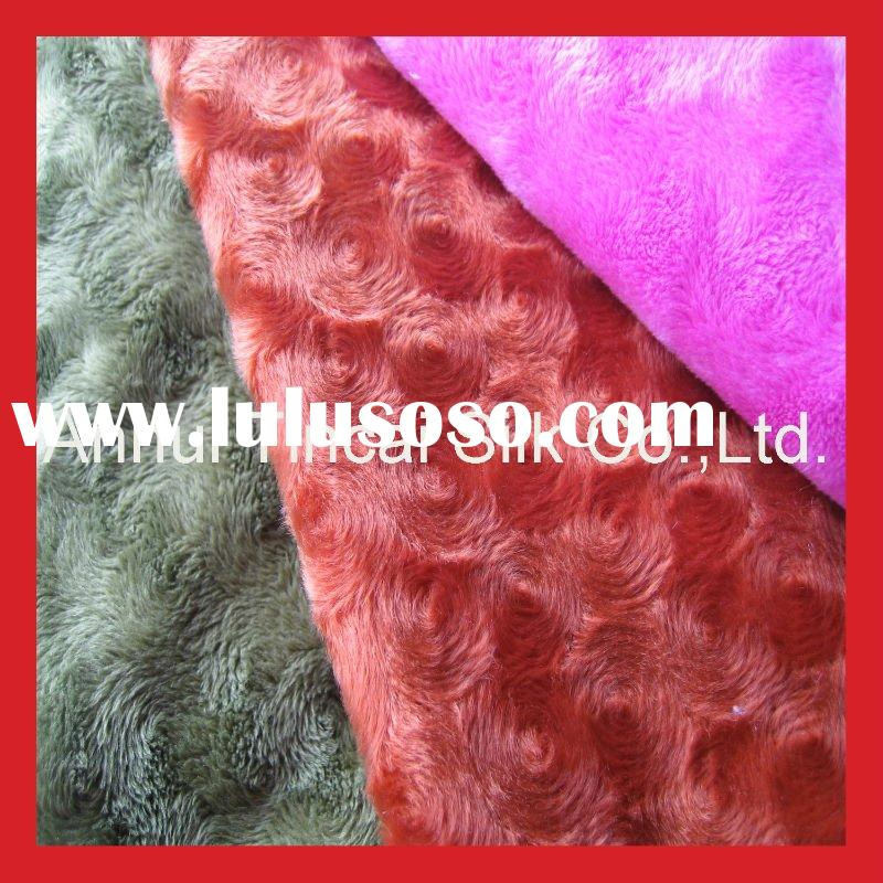 100% Polyester Faux Fur Fabric