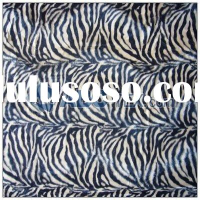 100% polyester hot sell animal print faux fur fabric