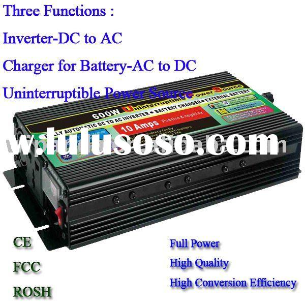 12V DC to 110V AC 600W Power Inverter with UPS and battery Charge function