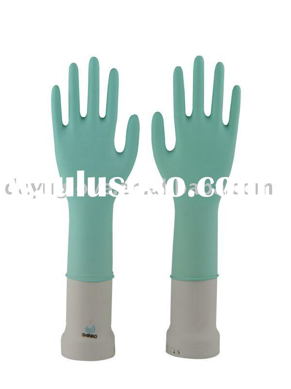 "12"" Green Disposable Nitrile Rubber Glove"