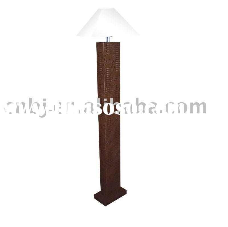 2011 New LED Floor Standing lamp/leather decorative furniture