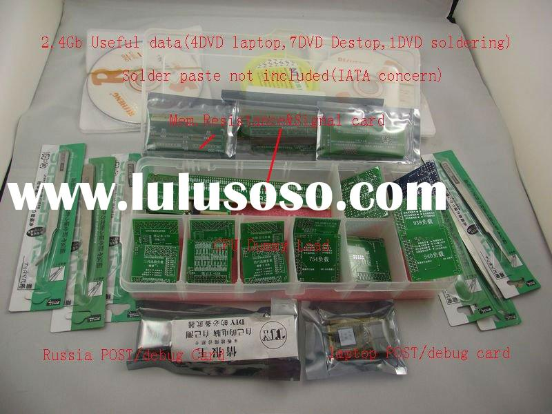 2011 New PC laptop debug kit 58 pc CPU dummy load, Memory Resistance&signal card,2.4Gb reparing
