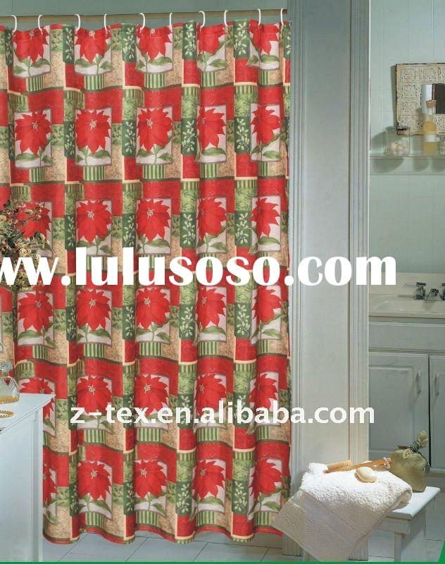2011 beautiful christmas shower curtains