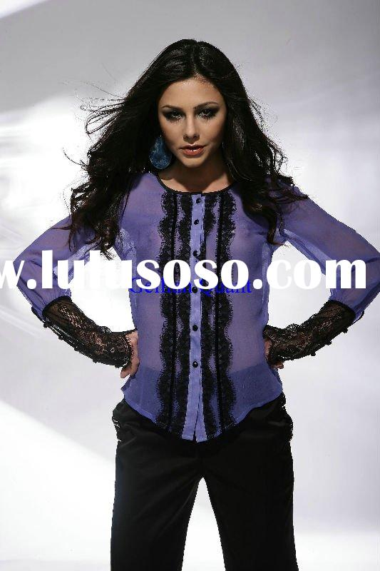 2011 fashion blue tunic tops