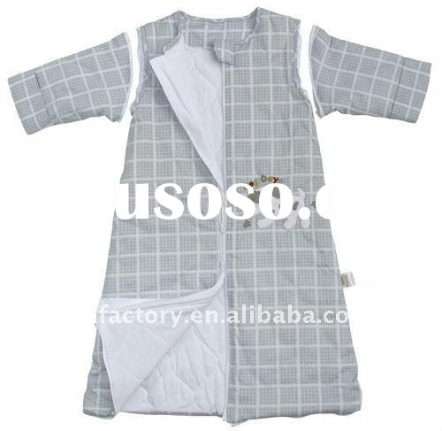 2011 grey lattice baby sleeping bag with sleeves