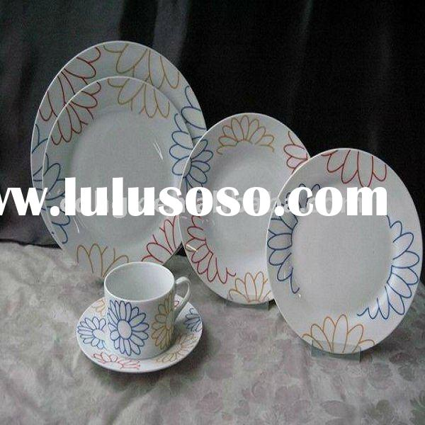 2011 new 20pcs porcelain dinnerware fine dinner ware kitchenware royal porcelain plates round shape