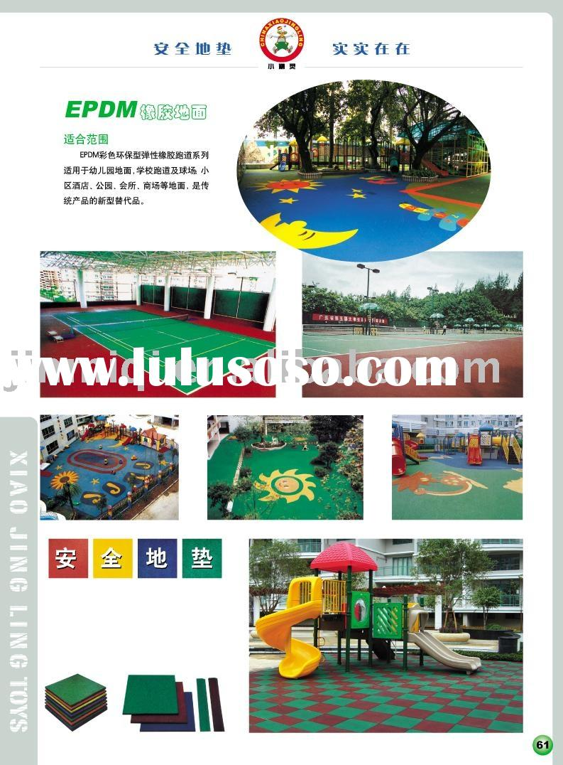 2011 rubber mat,rubber flooring mat,outdoor playground mat
