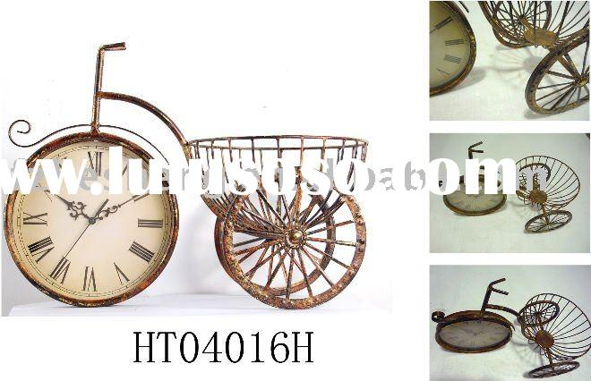 2011 style metal art table clock for home decoration
