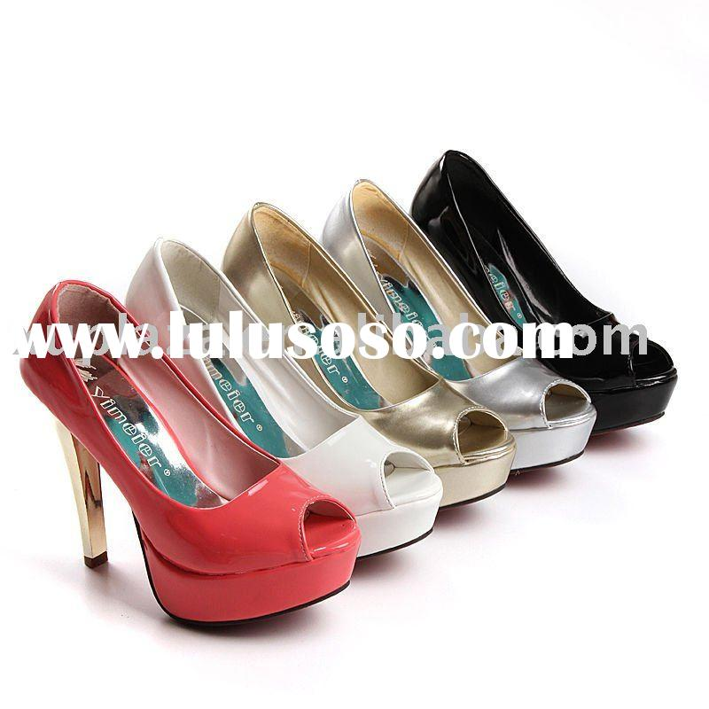 2012 Candy Colour Peep toe Pumps high heel shoes Women Sandals US4.5-8.5