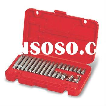 22 PCS RIBE BIT TOOL SET (hex power bit 30mm, 75mm(L), hex bit adapter)