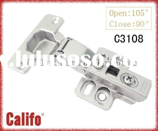 3D adjustable clip on buffering concealed hinge for kitchen cabinet door C3108