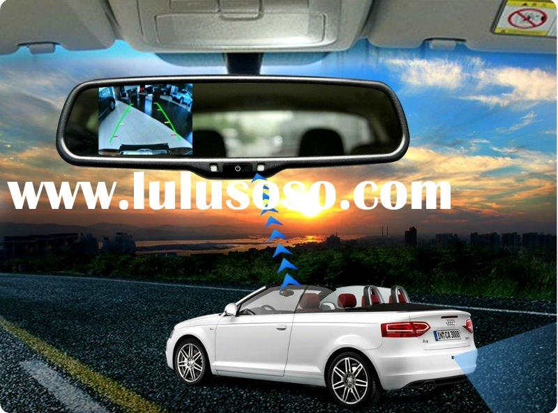 3.5 inch car rearview mirror with video parking sensor, vision night camera and compass for Toyota P