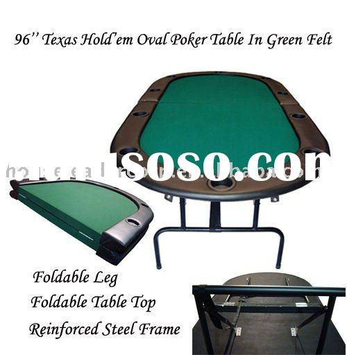 96'' Texas Hold'em Folding Poker Table
