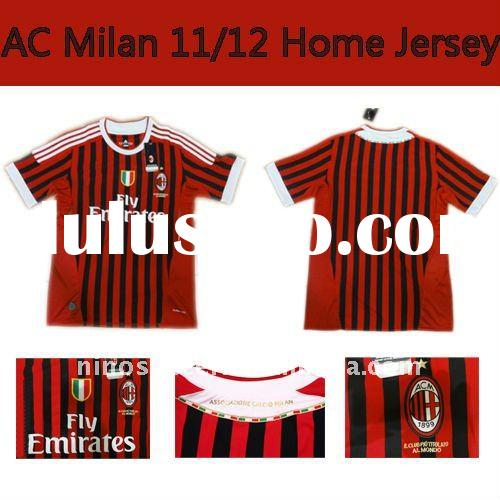 AC Milan Home Thai Quality Football Shirt 2011/2012