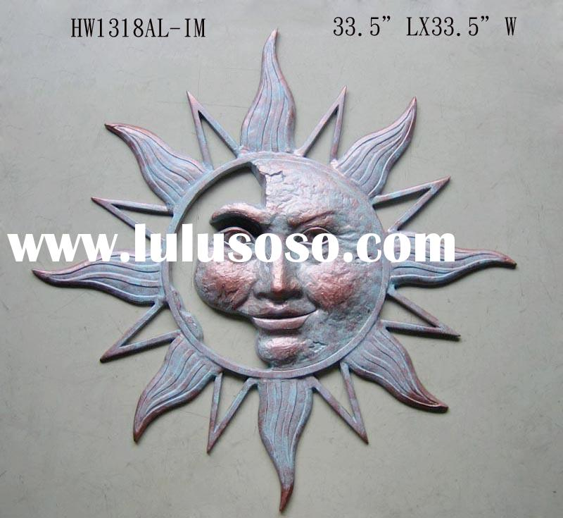 ALUM HALF SUN FACE WALL PLAQUE