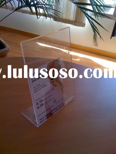 Acrylic A6 display, plastic display,acrylic table stand,photo frame