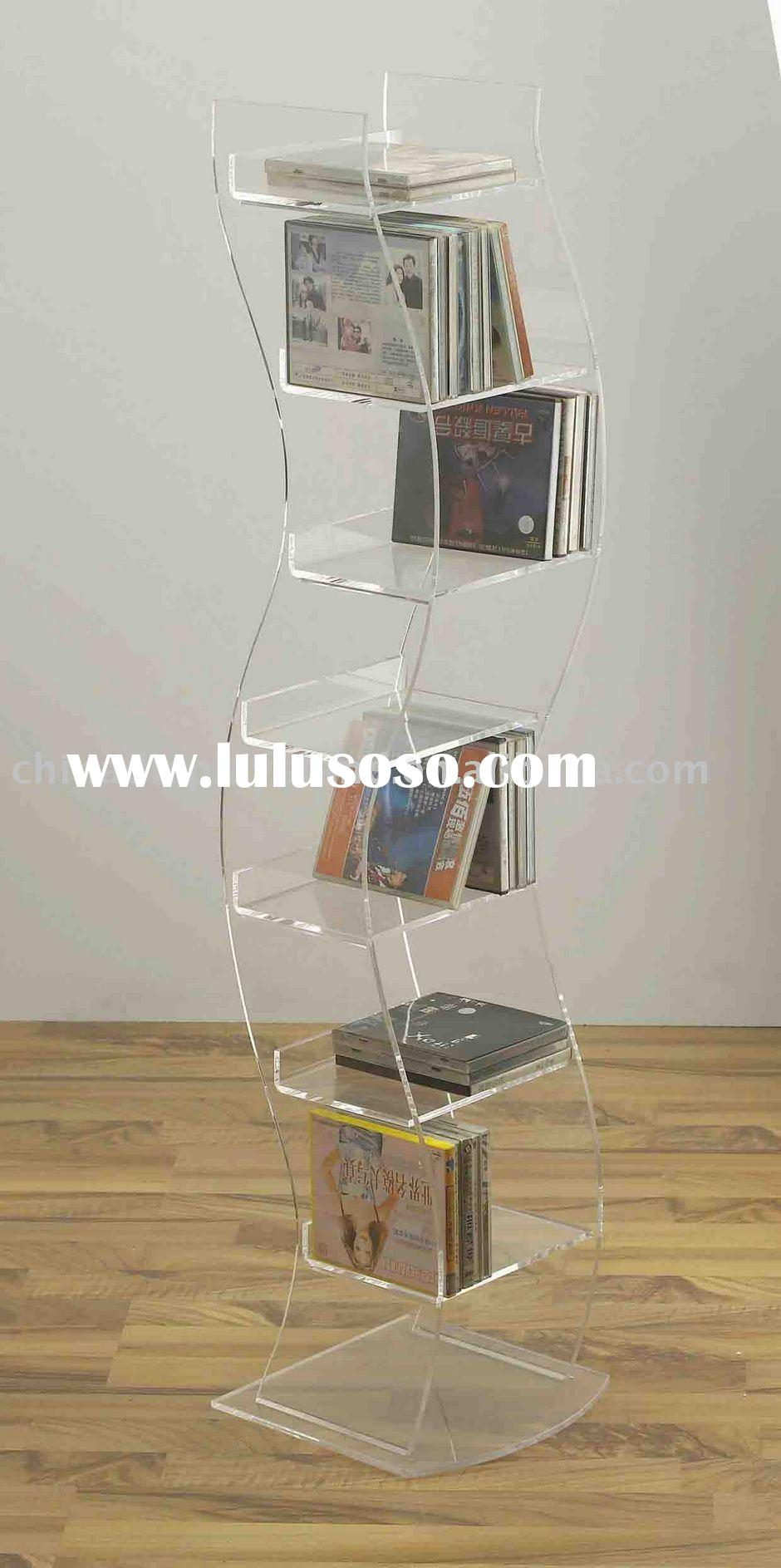 Acrylic Floor Standing CD/DVD Rack/holder/display/stand