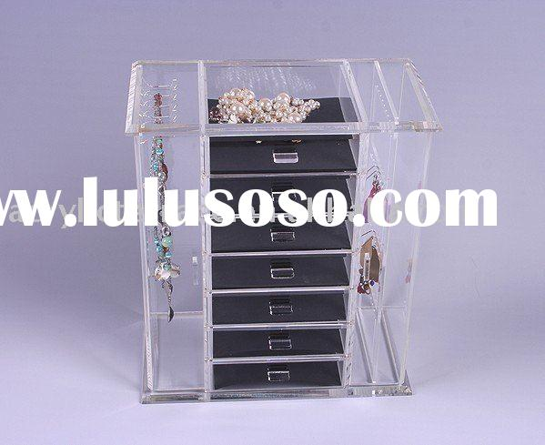 Acrylic jewelry display box(showcase/earring organizer/holder/stand)