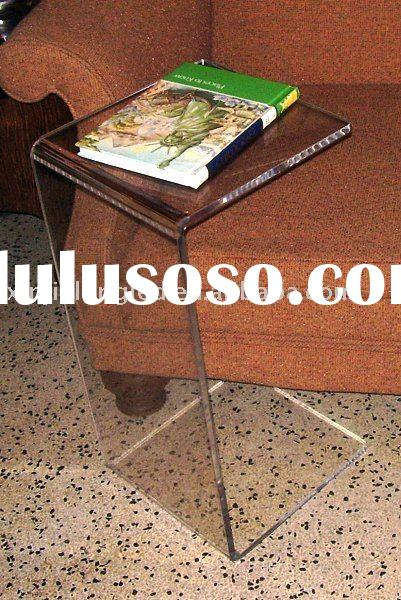 Acrylic small reading table, acrylic furniture,plexiglass display