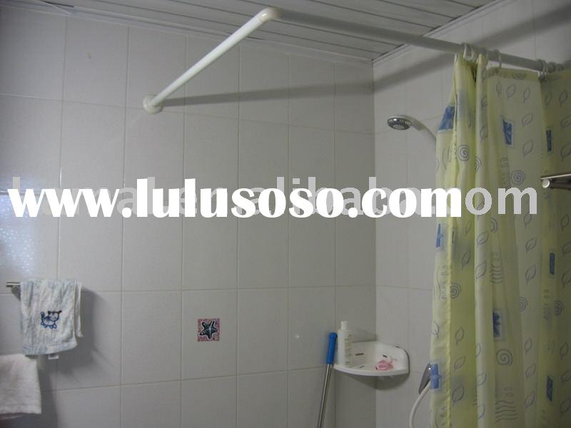 aluminum alloy l shape shower curtain rod shower curtain pole