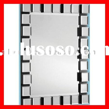 Art Deco mirror.rectangular mirror with small mirror tiles around the edges