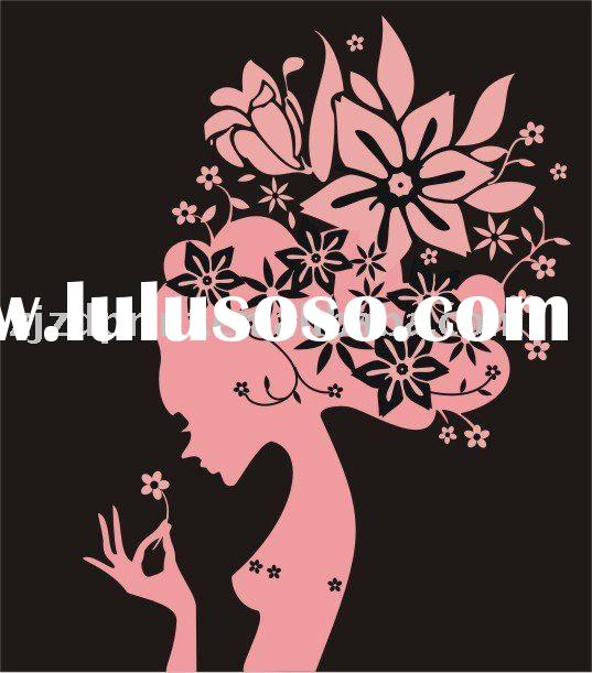 Art Girl PVC Wall Sticker for bedroom Wall Decor_Art