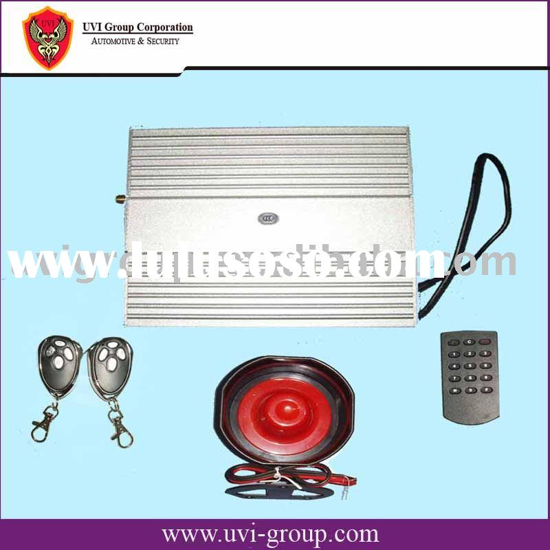 Auto-dialing GSM car/ auto Alarm with In-car telephone and remote control with SMS and calling