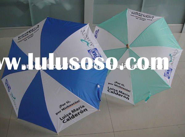 Automatic cheap election umbrella with custom logo in screen printing