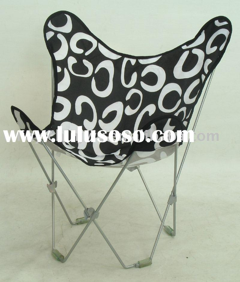 collapsible butterfly fuzzy chair white collapsible