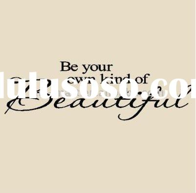 Be Your Own Kind Of Beautiful Vinyl Lettering for Walls Quotes, Vinyl Wall Quotes Stickers Sayings H
