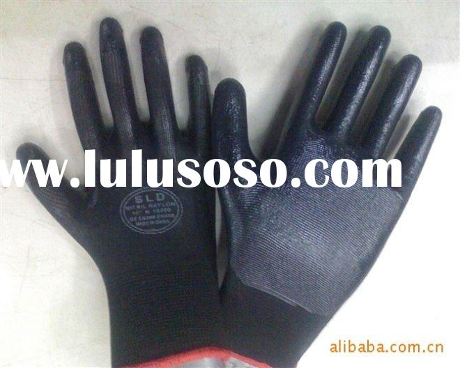 CVC synthetic rubber glove