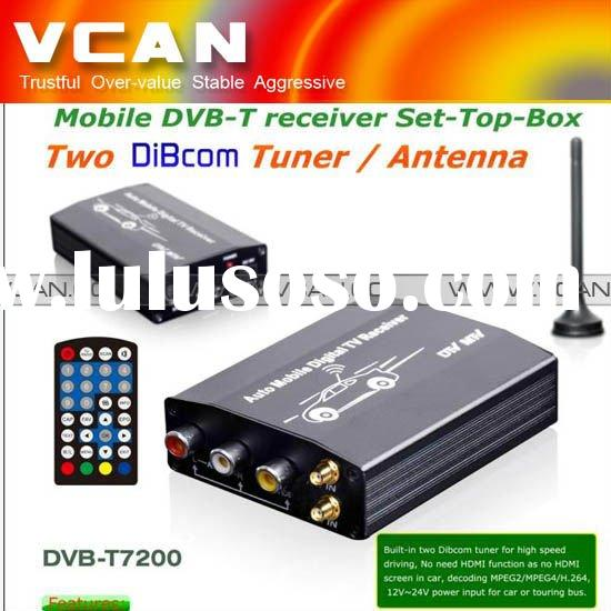 Car SD DVB-T Digital tv tuner with MPEG4/H.264/two dibcom tuner