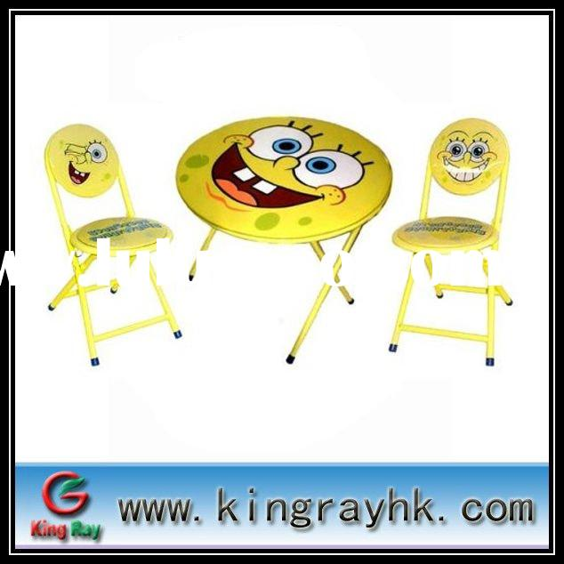 Cartoon kids folding table and chair