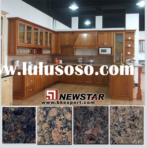 Cherry Kitchen Cabinet with Different Granite Countertops