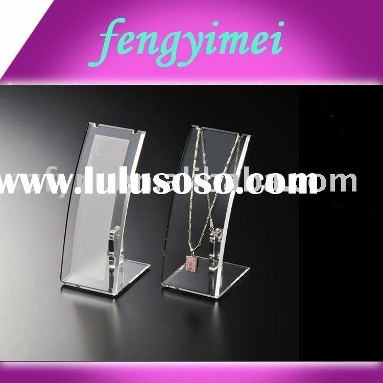 Clear acrylic necklace display stand,acrylic jewelry display