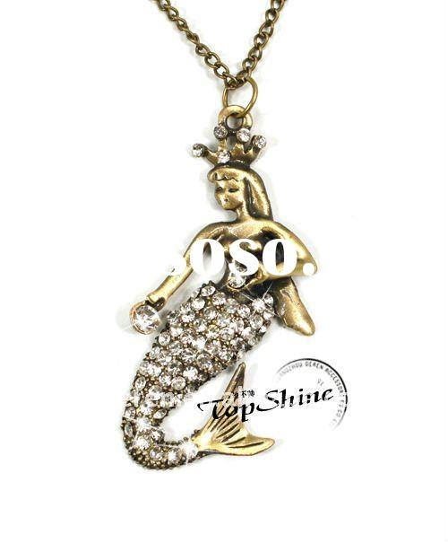 D00477o Antique Necklace Elegance Sea-Maid Pendant Jewelry/ Angel Pendant Costume Jewelry
