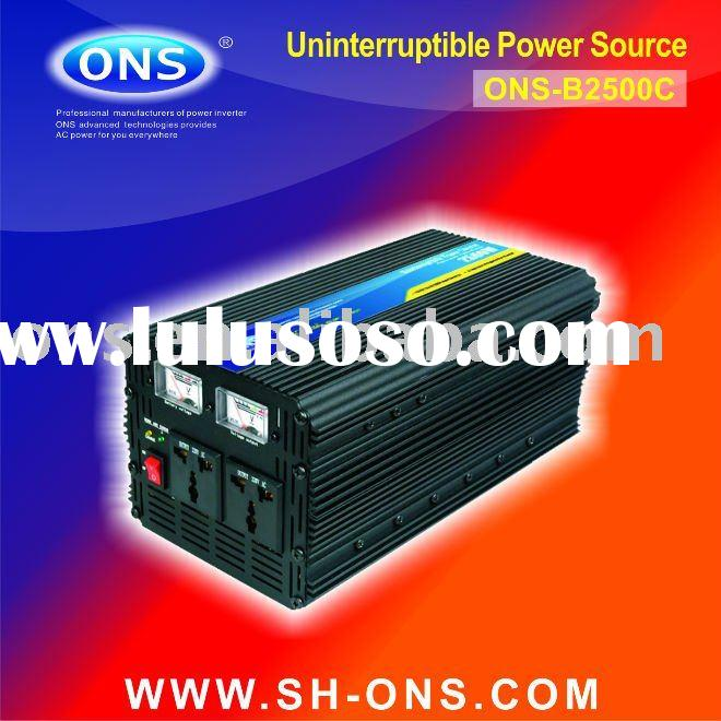 DC to AC solar power inverter with charger 2500W ups