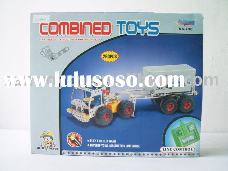 DIY Mobile Machinery Shop Toys/Child Metal Building Block Toys/Self-assembling Game Toy/ Self-assemb