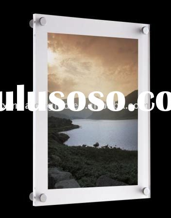 Decent Wall Mounted Photo Frame Acrylic Poster Display