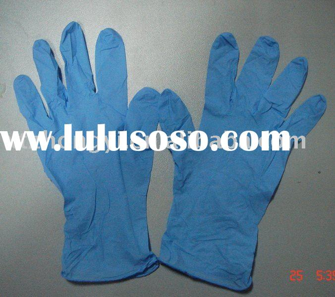 Disposable Nitrile Examination gloves/powdered/powder-free Finger Textured Nitrile gloves/Latex glov