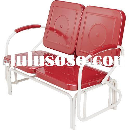 Double Seats Metal Glider Chair