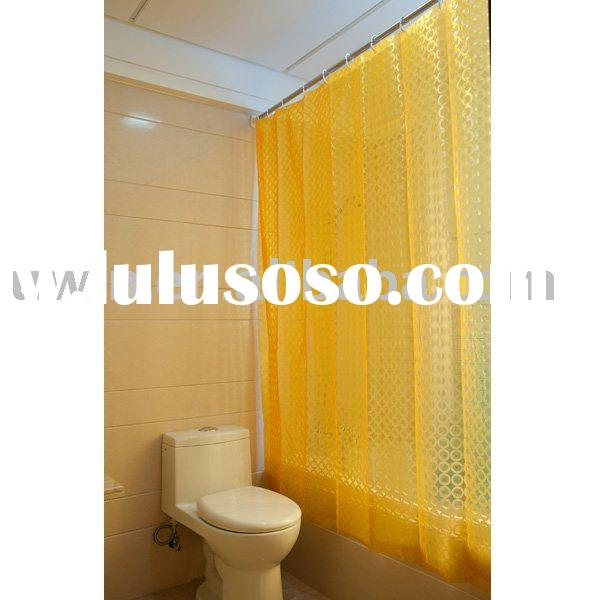 bright yellow shower curtain, bright yellow shower curtain ...