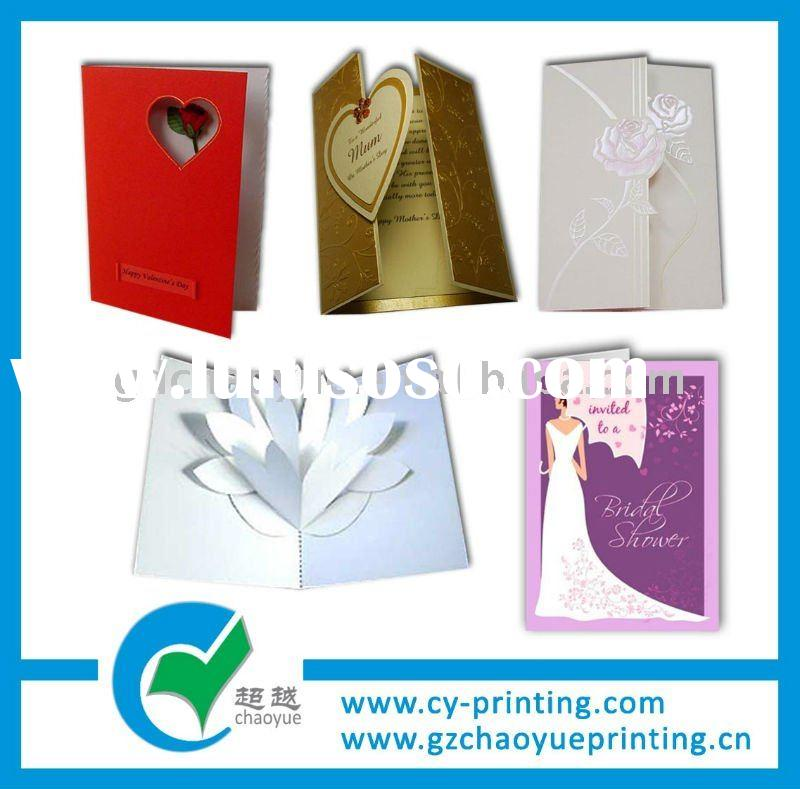 Elegant wedding/business invitation card printing