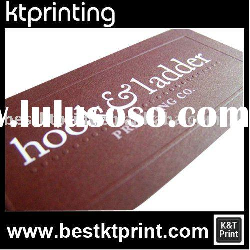 Embossed Dot Lines of business card, name card Printing